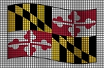 Amvets Maryland Flag Crochet Pattern